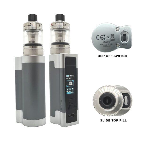 Aspire Zelo 3 Kit Gunmetal